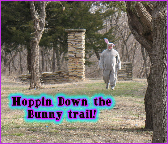 Photo of Easter Bunny entering Grandview Park