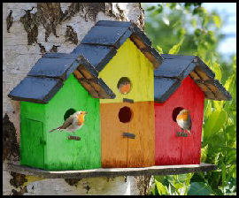 Triple birdhouse photo