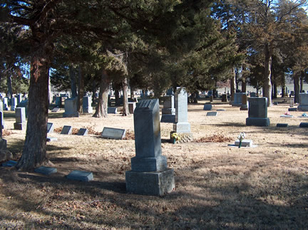 Older part of Hillcrest Cemetery